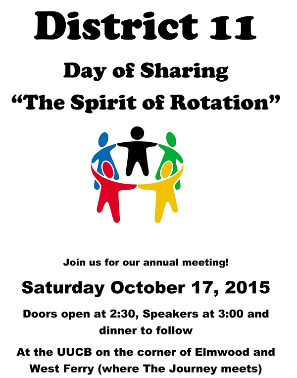 District 11 Annual Day of Sharing Oct 17 2015