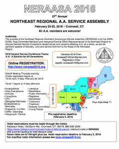 NERAASA 2018 (Northeast Regional A.A. Service Assembly) @ Radisson Hotel | Cromwell | Connecticut | United States